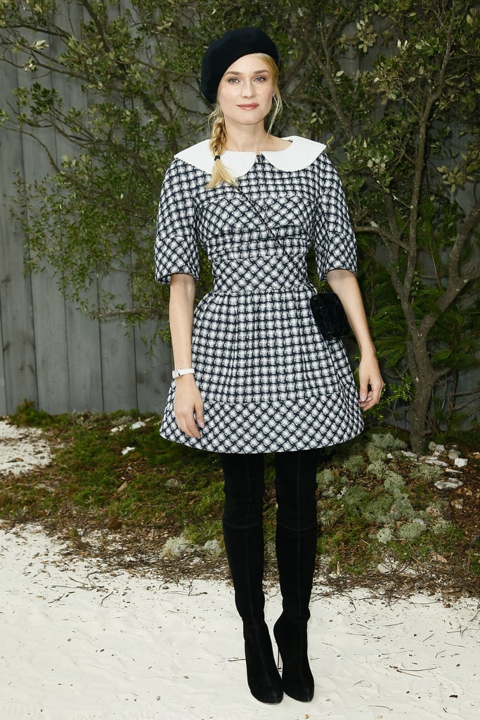 Diane Kruger and Hailee Steinfeld Tip Their Hats to Karl Lagerfeld at Chanel's Couture Show