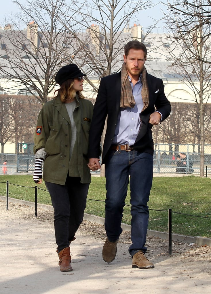 Drew Barrymore and Will Kopelman took a stroll in the Tuileries in Paris.