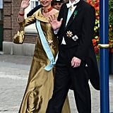 Carlos, Duke of Parma, and Annemarie Gualthérie van Weezel waved.