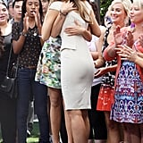 Nina Dobrev and Maria Menounos hugged it out after the interview.