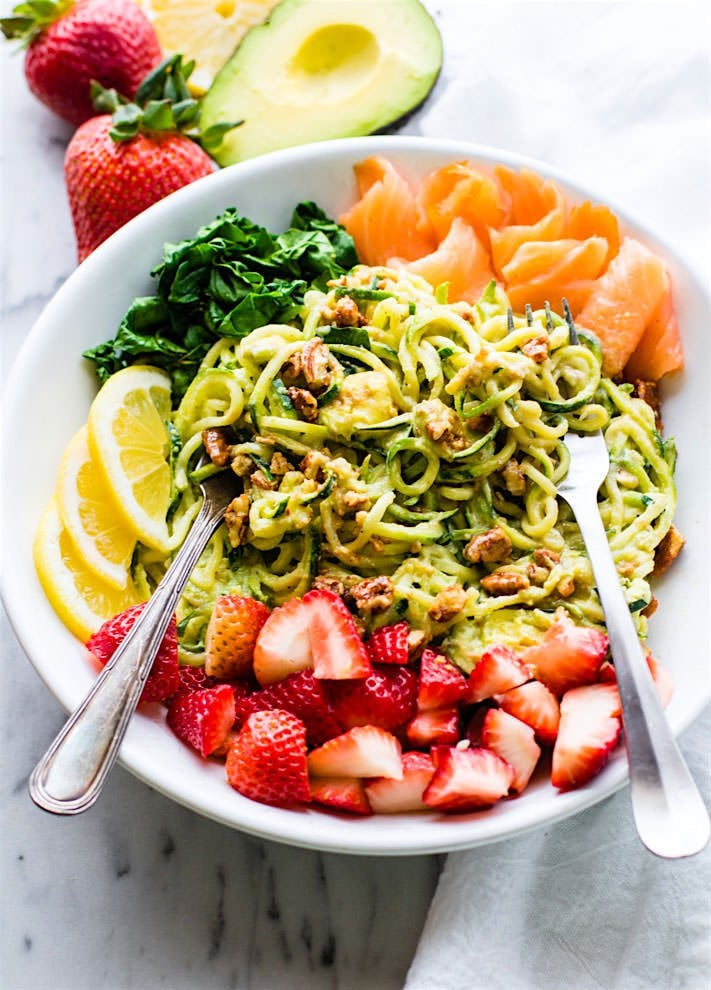 Strawberry Zucchini Noodle Bowl