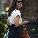 Pippa Middleton getting in her car.