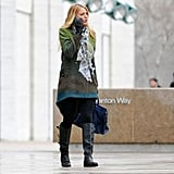 Blake Lively walked and talked while shooting Gossip Girl.