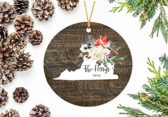 Virginia State Christmas Ornament