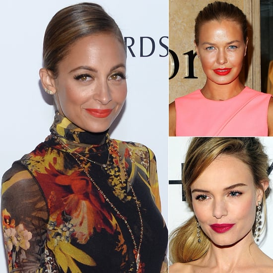 Celebrity Beauty & Makeup Inspiration: Pink, Orange Lipstick
