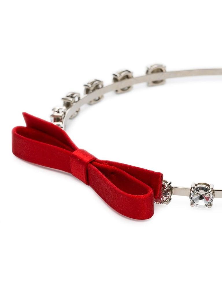 Miu Miu Crystal Bow Headband
