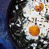 Baked Eggs and Greens With Feta Yogurt Drizzle