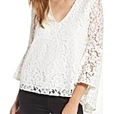 WAYF Ryan Lace Choker Bell Sleeve Top