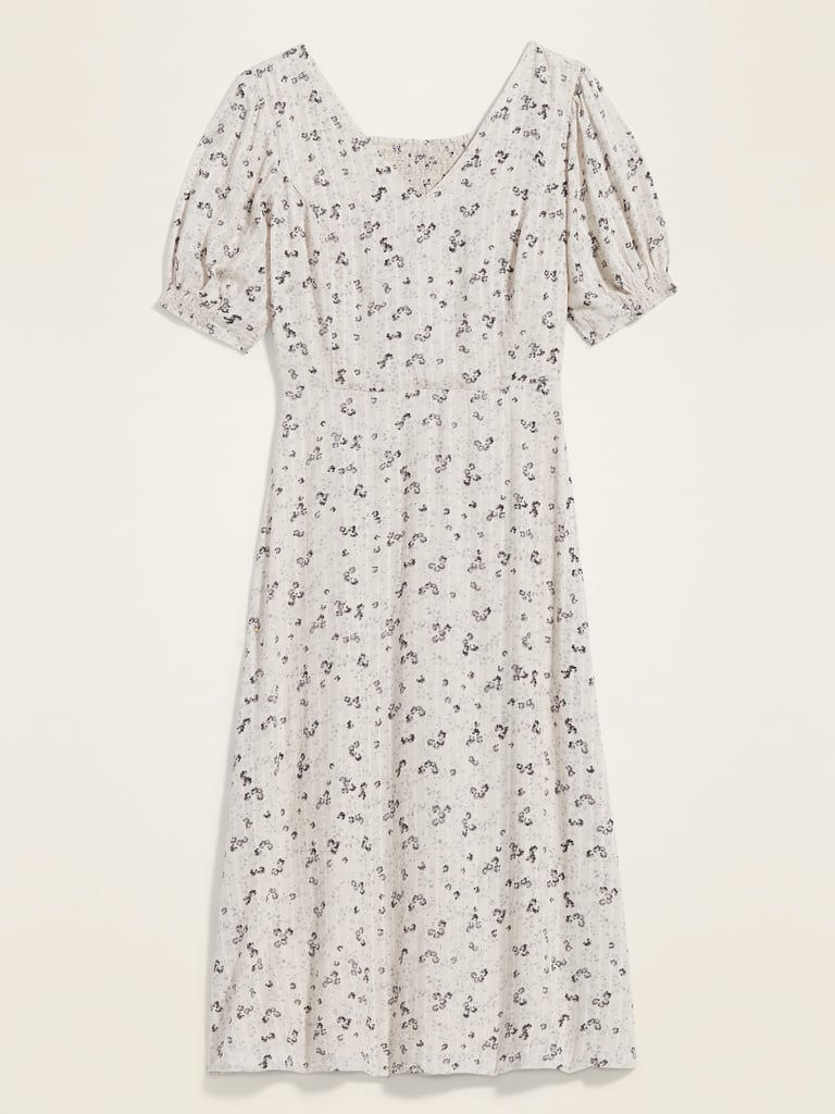Old Navy Floral-Print V-Neck Fit & Flare Midi Dress