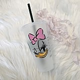 Daisy Duck Personalized Iced Coffee Cup