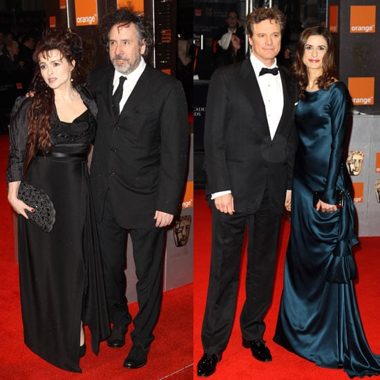 Pictures of Colin Firth, Helena Bonham Carter, and Tom Hooper on BAFTAs Red Carpet For The King's Speech 2011-02-13 11:44:31