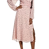Wayf x Influencing in Color Liza Smocked Long-Sleeved Midi Dress