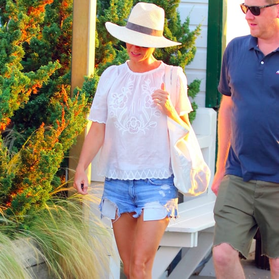 Gwyneth Paltrow White Birkenstocks