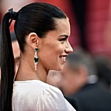 At the premiere of Julieta, Adriana Lima wore her glossy brunette strands slicked back into a taut ponytail.