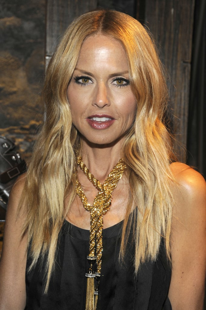 Rachel Zoe wore a chunky gold necklace.