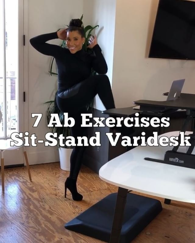 Desk Standing Ab Workout