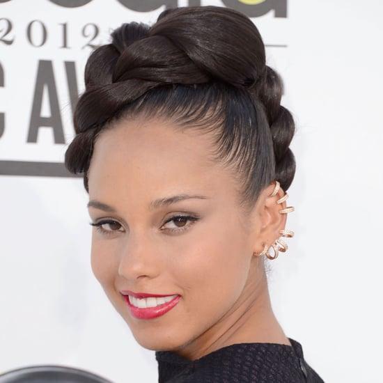Alicia Keys' Hair and Makeup at the 2012 Billboard Music Awards