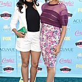 Tamera and Tia Mowry were a stunning sister act in striking designs.