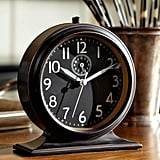 Prefer a more traditional look? The Pottery Barn Chester Alarm Clock ($44) has a timeless (get it?) design and a bronzed, hand-painted finish.