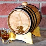 Cathy's Concepts Monogram Bluegrass Whiskey Barrel