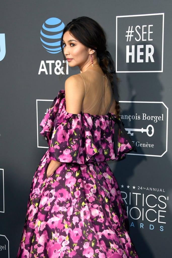 Gemma Chan Hair Critics' Choice Awards 2019