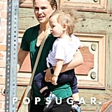 Natalie Portman ran errands with her son, Aleph, in LA on Friday.