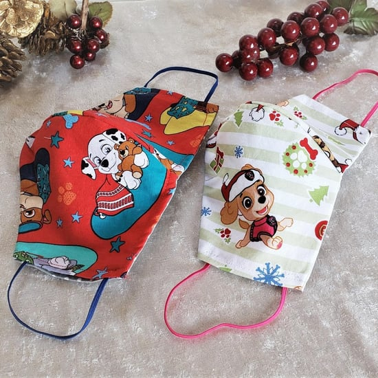Holiday Cloth Face Masks For Kids