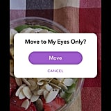 "Choosing ""My Eyes Only"" provides an extra layer of security to your photo."