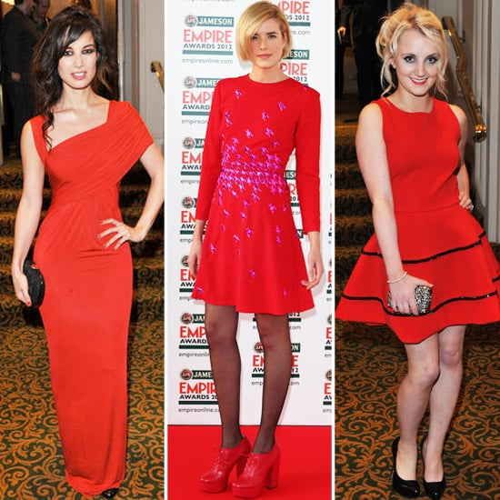 Agyness Deyn and Others Wear Red To The Jameson Empire Awards