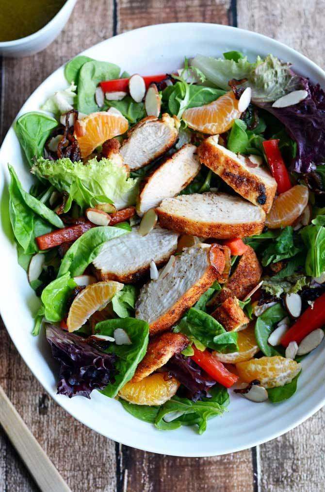 Cumin Honey Citrus Chicken Salad