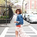 What's a better style formula for a Summer afternoon than a breezy printed dress and a denim jacket? Source: Lookbook.u