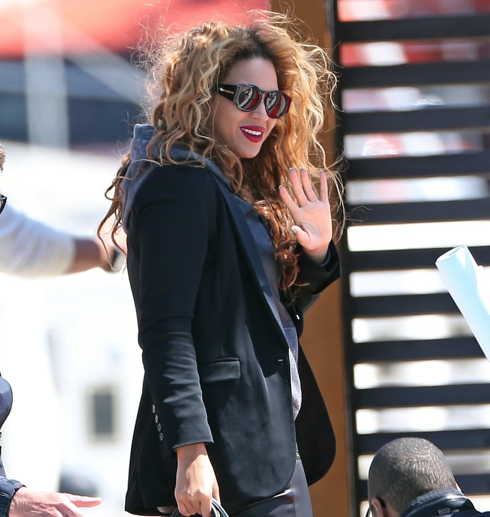 b95e68cc0eff3 Beyoncé looked uniquely cool in her Karen Walker Blue Moon sunglasses  ( 273) during a