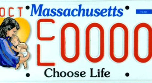 Massachusetts Choose Life License Plates