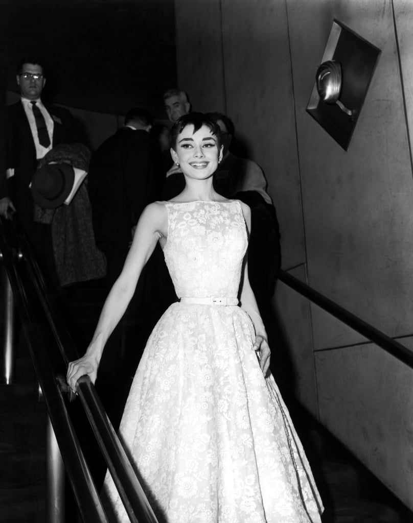 Audrey Hepburn Wearing Givenchy At The 1954 Oscars Emma Stone And