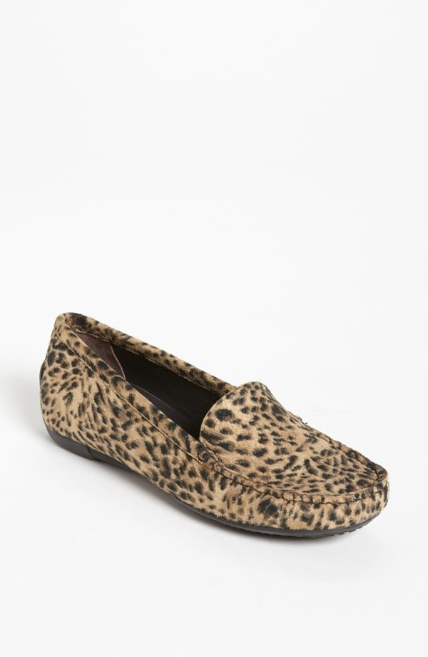 Stand out with driving mocs ($190, originally $298) done in spotty leopard, courtesy of Stuart Weitzman.