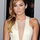 Miley Cyrus was sexy in cutouts.