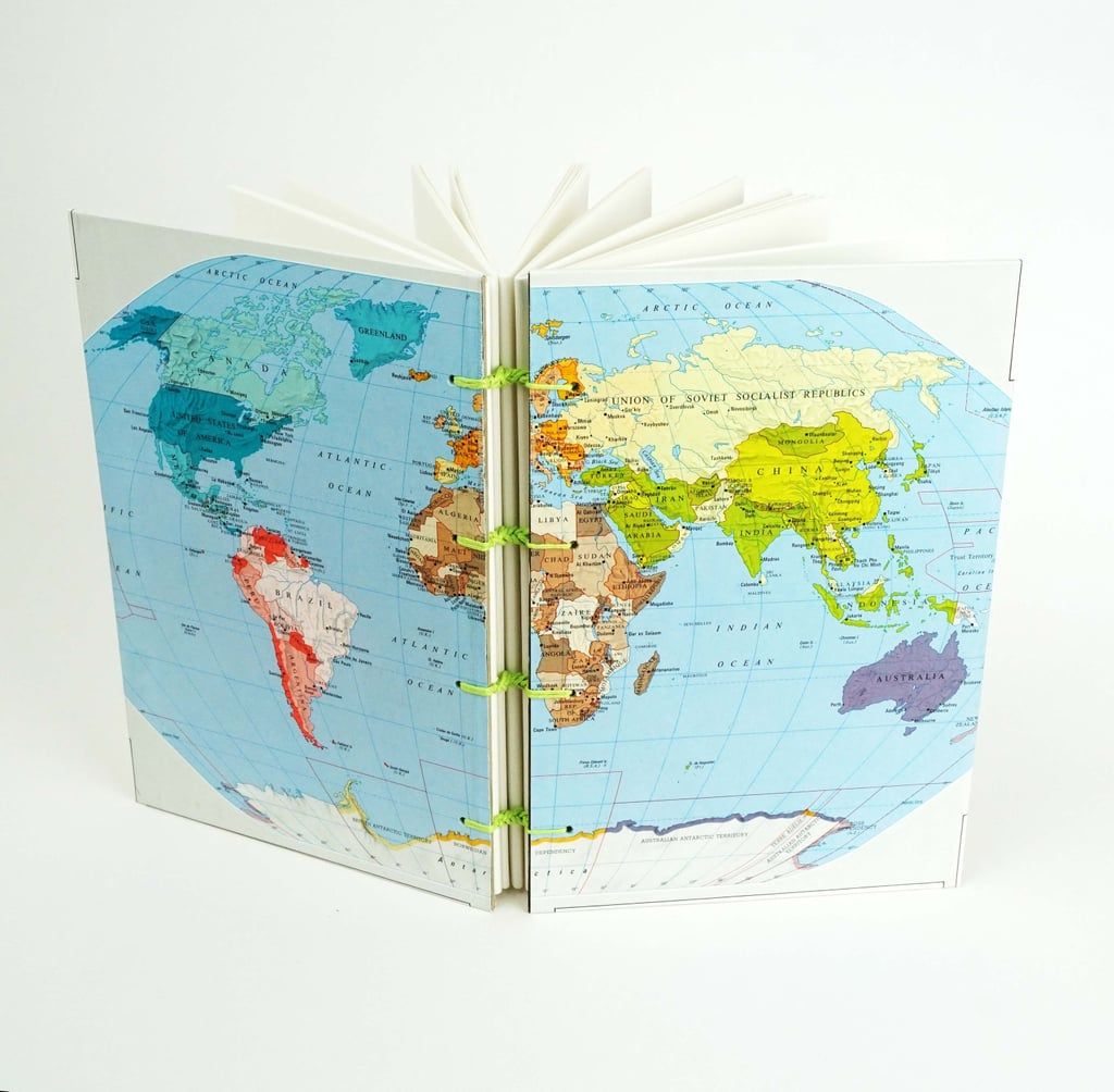 Map Journal | Cool Upcycling Projects | POPSUGAR Smart ... on map pen, map editor, map humor, map notes, map statistics, map policy, map profile, map language, map ledger, map services, map organizer, map series, map poems,