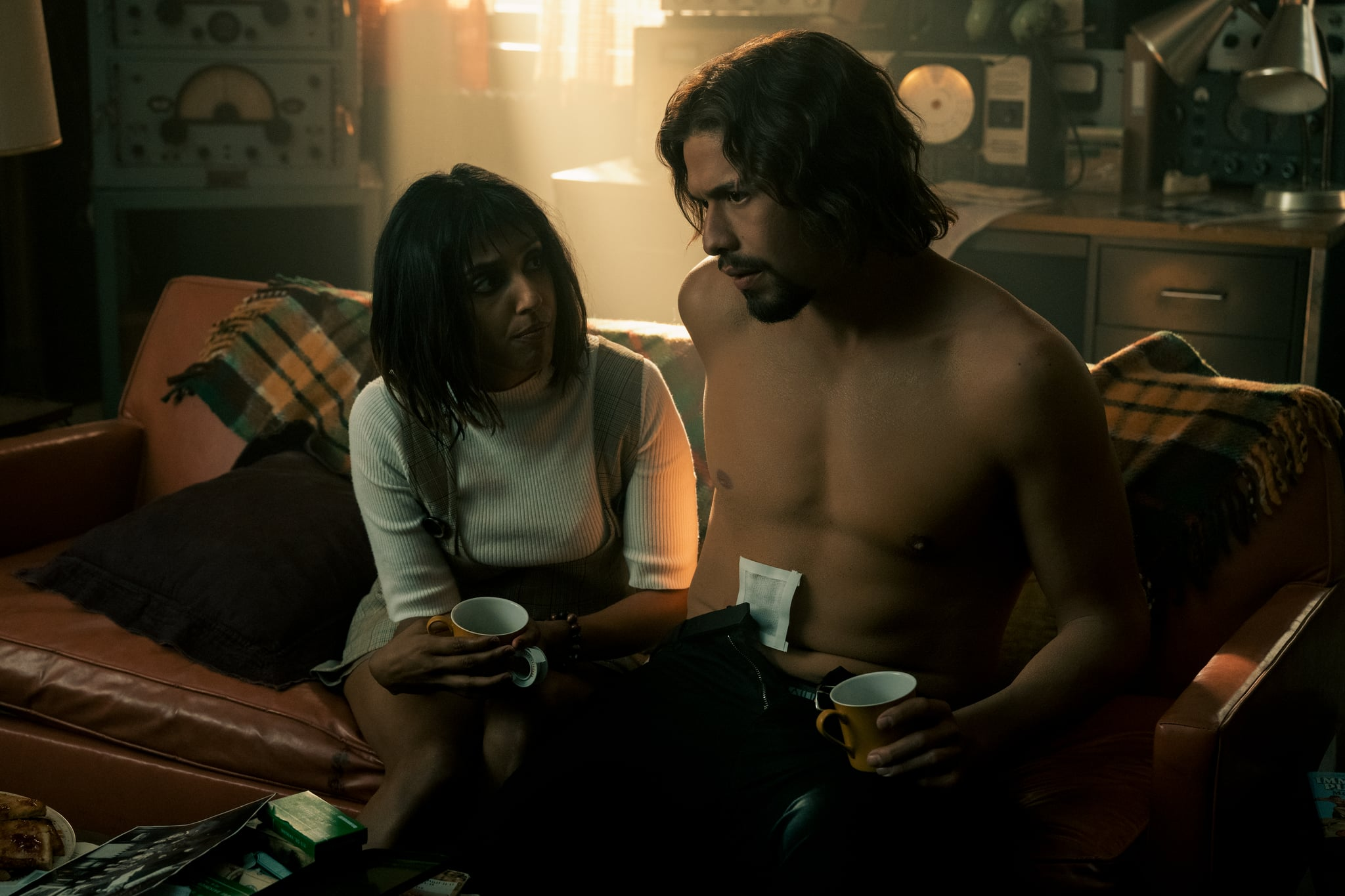 THE UMBRELLA ACADEMY (L to R) RITU ARYA as LILA and DAVID CASTAEDA as DIEGO HARGREEVES in episode 204 of THE UMBRELLA ACADEMY Cr. CHRISTOS KALOHORIDIS/NETFLIX  2020