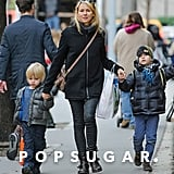 Naomi Watts took Sasha Schreiber and Kai Schreiber along to run errands.