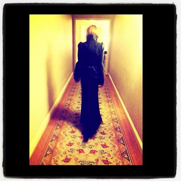 Nicole Richie attended a friend's wedding in a dramatic black dress. Source: Instagram user nicolerichie