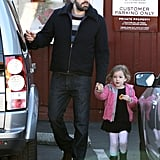 Ben Affleck got the door for Seraphina Affleck.