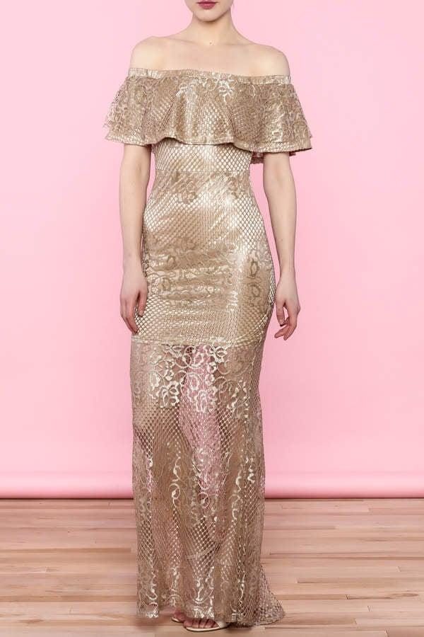 L'atiste Gold Dress