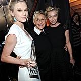 Taylor Swift, Ellen DeGeneres, and Portia de Rossi