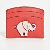 Kate Spade New York Elephant Applique Card Holder