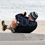 Matthew McConaughey Brings His Fine Form to the Beach For Another Workout