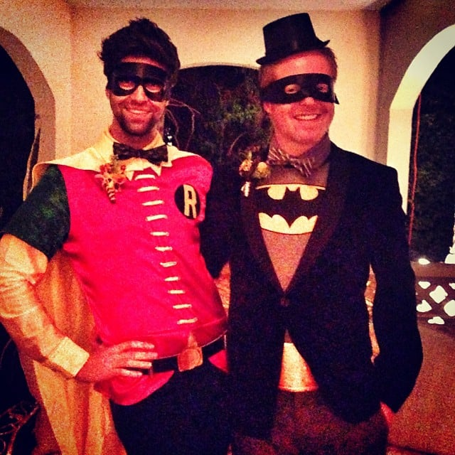 Jesse Tyler Ferguson and Justin Mikita dressed as superheroes Batman and Robin. Source: Instagram user jessetyler