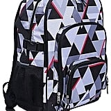 Grey Geo Print Backpack