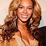 Beyoncé Knowles glowed in gold.