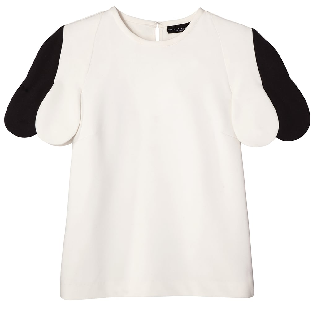 White Scallop Sleeve Top ($28)