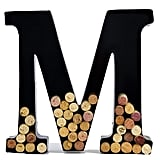 Wine Cork Holder — Metal Monogram Letter